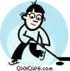Hockey Player Vector Clipart image