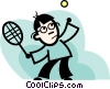 Vector Clip Art graphic  of a Player