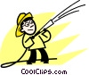 Firemen Vector Clipart picture