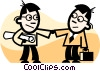 businessmen shaking hands Vector Clipart illustration
