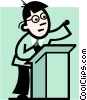 Vector Clip Art picture  of a Presenters and Presentations