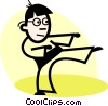 Karate Vector Clipart picture
