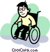 People with Disabilities Vector Clipart illustration