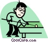 Pool Players Vector Clip Art picture