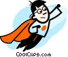 Vector Clip Art graphic  of a Superheroes