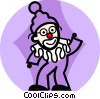Clown performing Vector Clip Art picture
