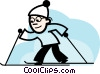 Cross Country Skiing Vector Clip Art image