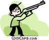 Vector Clipart graphic  of a Hunting