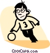 Basketball Players Vector Clipart image