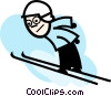 Vector Clipart graphic  of a Ski Jumping