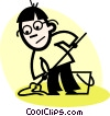 Vector Clipart picture  of a Cleaners
