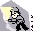 Vector Clip Art picture  of a Coal