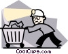 Coal miner Vector Clip Art graphic