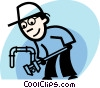 Vector Clipart illustration  of a Plumbers