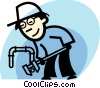 Vector Clipart graphic  of a Plumbers