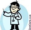 Vector Clip Art graphic  of a Doctors