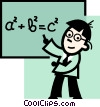 Vector Clipart graphic  of a Teachers