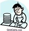 Dish Washers Vector Clipart graphic
