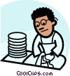 Vector Clipart illustration  of a Dish Washers