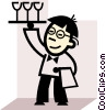 Vector Clipart image  of a Waiters and Waitresses