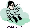 director giving directions Vector Clipart illustration