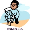 Vector Clip Art image  of a Captain's Wheel