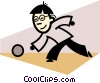 Bowlers Vector Clipart graphic