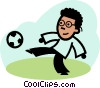 Vector Clip Art graphic  of a Soccer Players