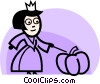 Vector Clip Art image  of a Costumes