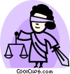 Vector Clipart graphic  of a Scales of Justice