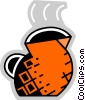 Vector Clip Art picture  of a Teapots