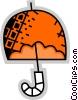 Vector Clipart graphic  of a Umbrellas