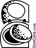 Vector Clipart picture  of a Compacts
