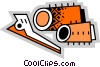 Curlers and Hair Clips Vector Clipart graphic