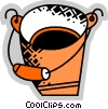 Vector Clipart graphic  of a Buckets and Pails