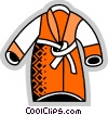 Vector Clip Art graphic  of a Bathrobes