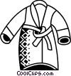 Vector Clip Art image  of a Bathrobes