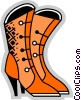Ladies Boots Vector Clipart illustration