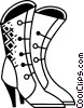 Vector Clip Art image  of a Ladies Boots