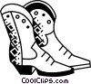 Cowboy Boots Vector Clipart illustration