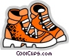 Vector Clipart illustration  of a Hiking Boots