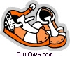 Vector Clip Art picture  of a Sandals