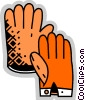 Vector Clip Art image  of a Gloves