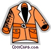 Vector Clip Art picture  of a Coats and Jackets