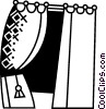 Vector Clip Art picture  of a Curtains