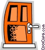 Doors Vector Clip Art graphic