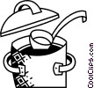 Vector Clipart graphic  of a Pots and Pans