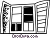 Vector Clipart graphic  of a Windows