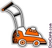 Vector Clip Art image  of a Lawnmowers