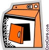 Clothes Dryers Vector Clipart illustration
